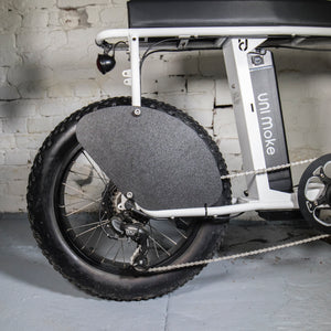 Side Panels Rear Wheel on UNI Moke Bike Black