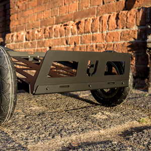 Mini Bicycle Trailer Aluminium 60x40cm Black