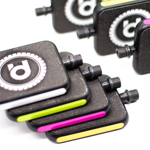 MOTO Reflex Pedals with branded Grip Tape for Bicycles