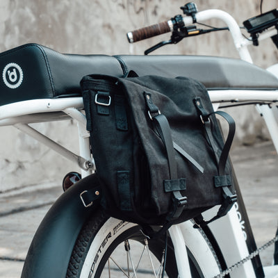 Side Bag Pannier Fabric Black E-Bike Storage