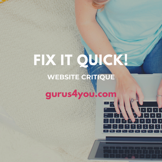 Fix it Quick Website Critique