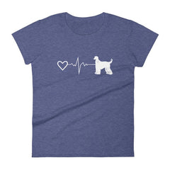 Afghan Heartbeat - Women's Short Sleeve T-Shirt Heather Blue / S