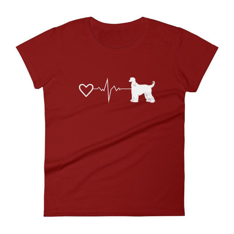 Afghan Heartbeat - Women's Short Sleeve T-Shirt Independence Red / S