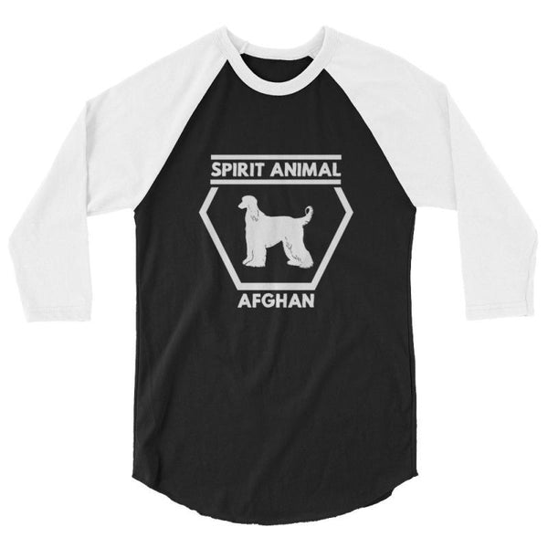 Afghan Spirit Animal - Baseball Shirt Black/white / Xs