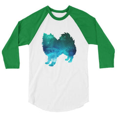 American Eskimo Dog - Galaxy Design Baseball Shirt White/kelly / Xs