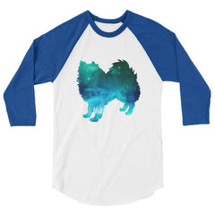 American Eskimo Dog - Galaxy Design Baseball Shirt White/royal / Xs
