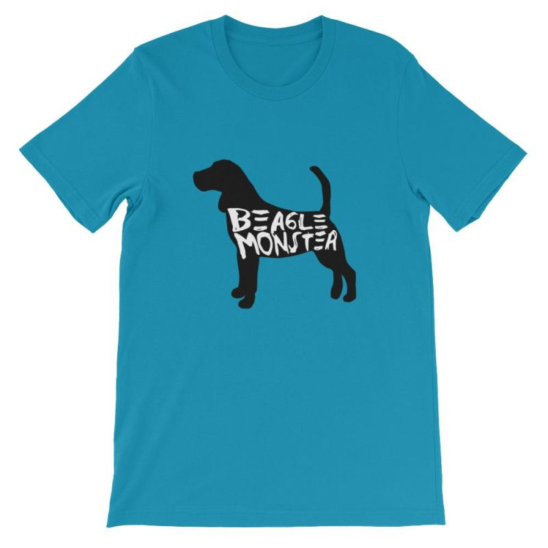 Beagle Monster - Short-Sleeve Unisex T-Shirt Aqua / S