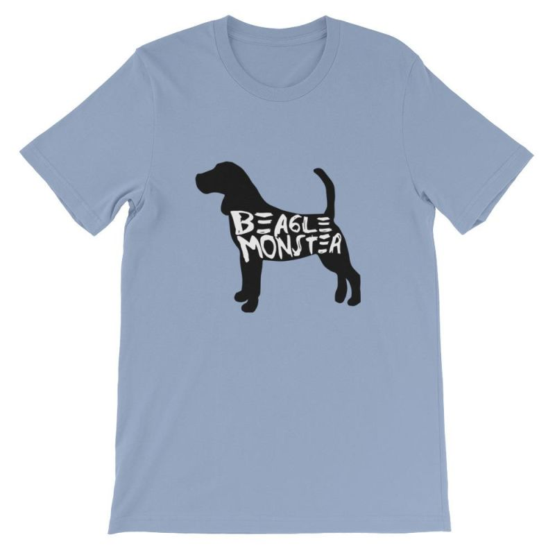 Beagle Monster - Short-Sleeve Unisex T-Shirt Baby Blue / S