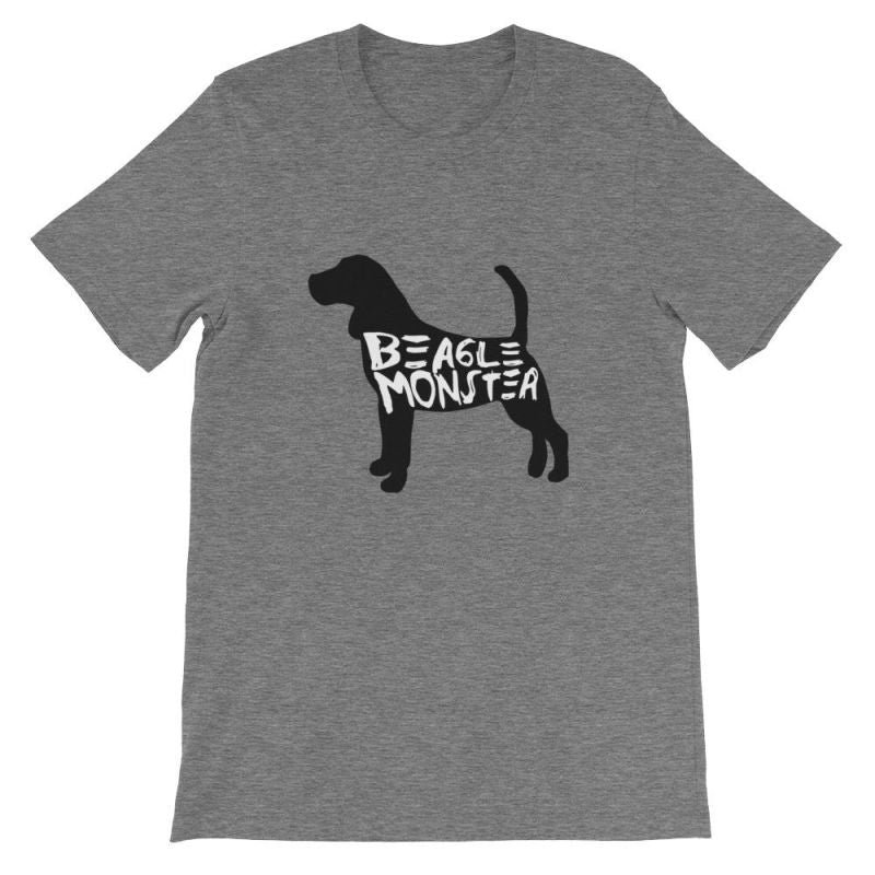 Beagle Monster - Short-Sleeve Unisex T-Shirt Deep Heather / S