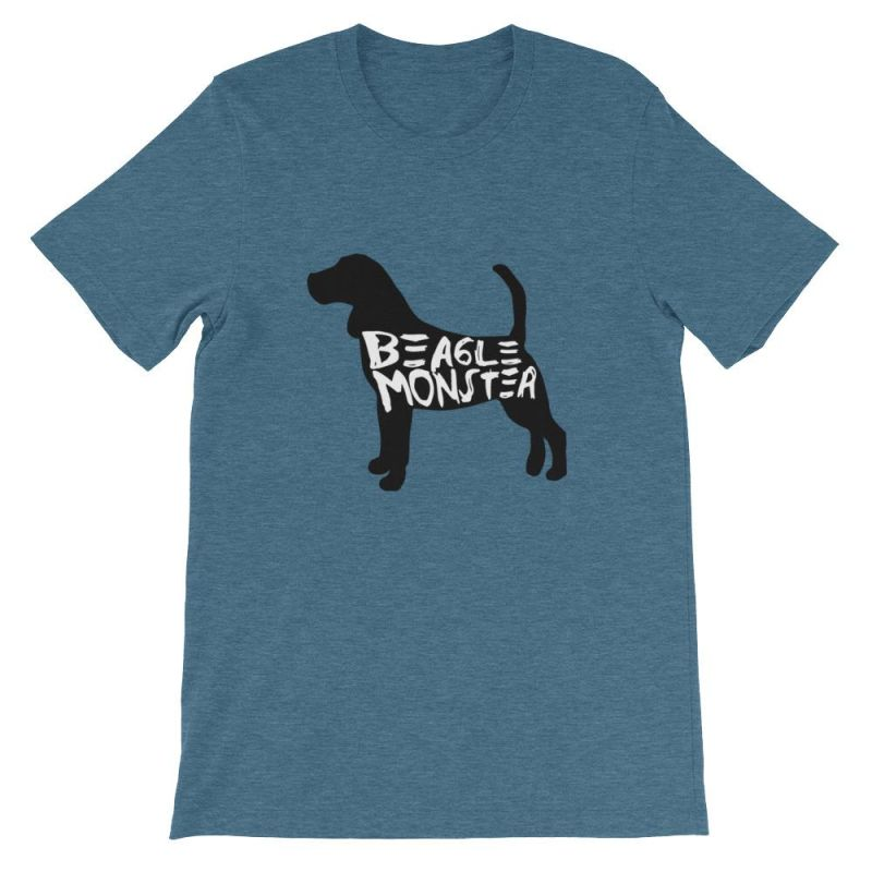 Beagle Monster - Short-Sleeve Unisex T-Shirt Heather Deep Teal / S