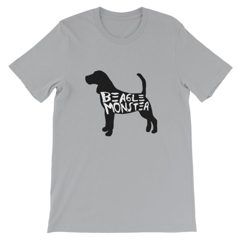 Beagle Monster - Short-Sleeve Unisex T-Shirt Silver / S