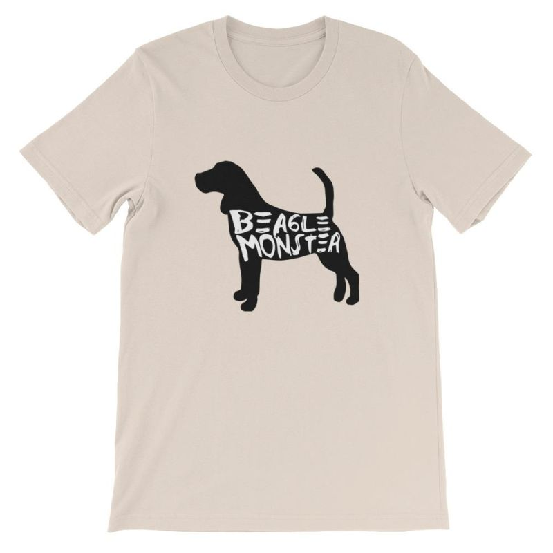 Beagle Monster - Short-Sleeve Unisex T-Shirt Soft Cream / S