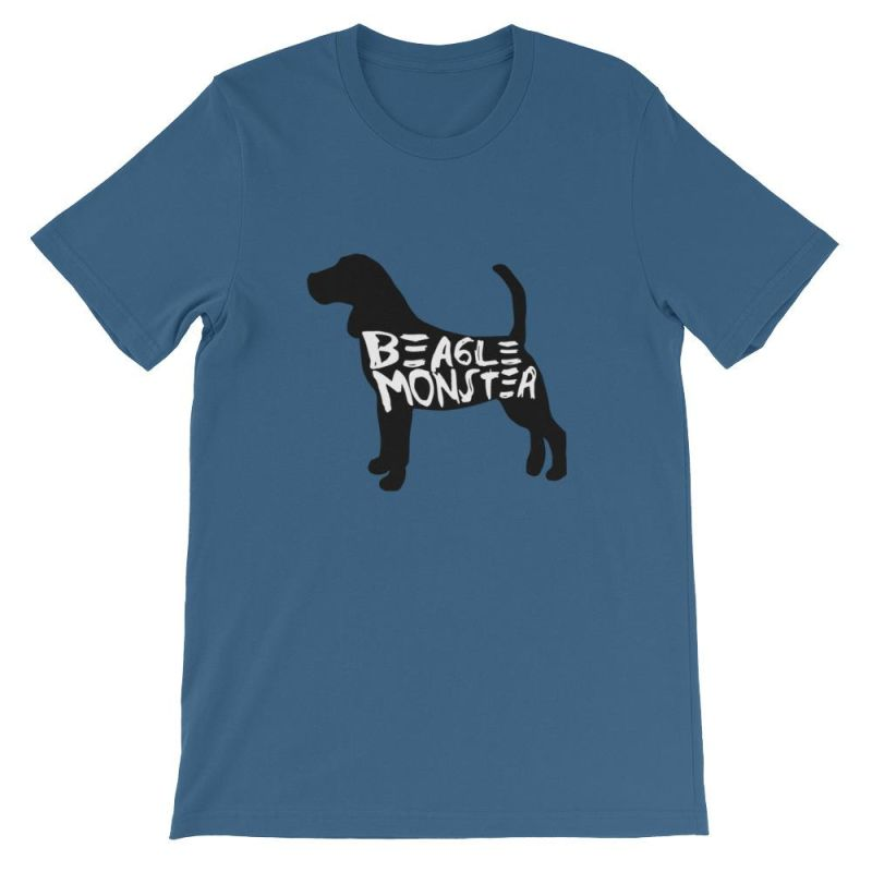 Beagle Monster - Short-Sleeve Unisex T-Shirt Steel Blue / S