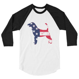 Beagle - Patriotic Design - Baseball Shirt White/black / Xs