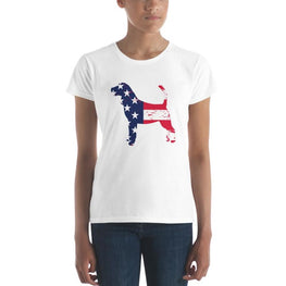 Beagle - Patriotic Design - Womens Short Sleeve T-Shirt White / S