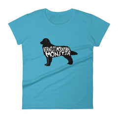 Bernese Mountain Dog Monster - Womens Short Sleeve T-Shirt Caribbean Blue / S