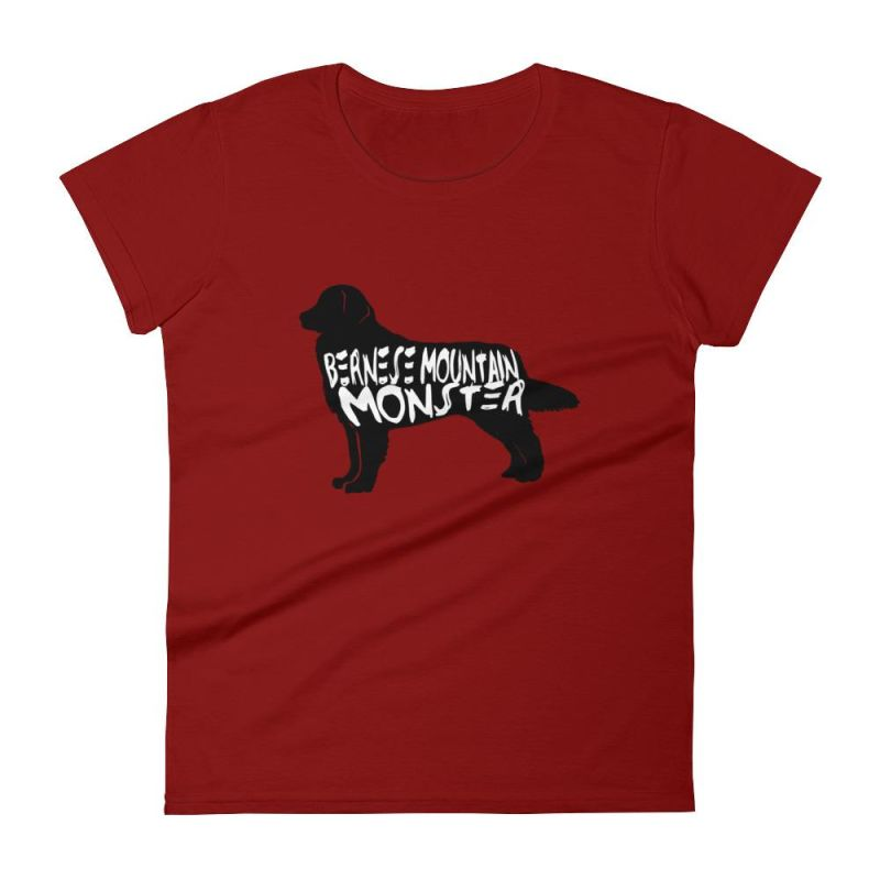 Bernese Mountain Dog Monster - Womens Short Sleeve T-Shirt Independence Red / S