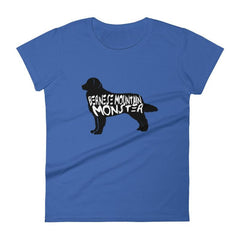 Bernese Mountain Dog Monster - Womens Short Sleeve T-Shirt Royal Blue / S