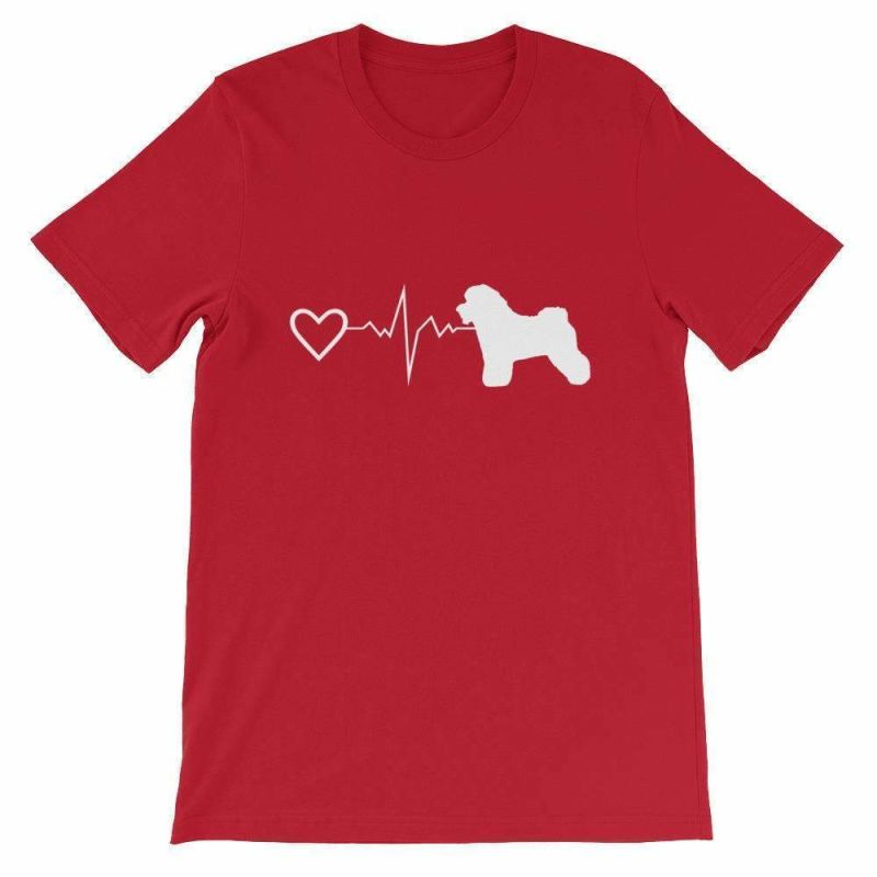 Bichon Frise Heartbeat - Short-Sleeve Unisex T-Shirt Red / S