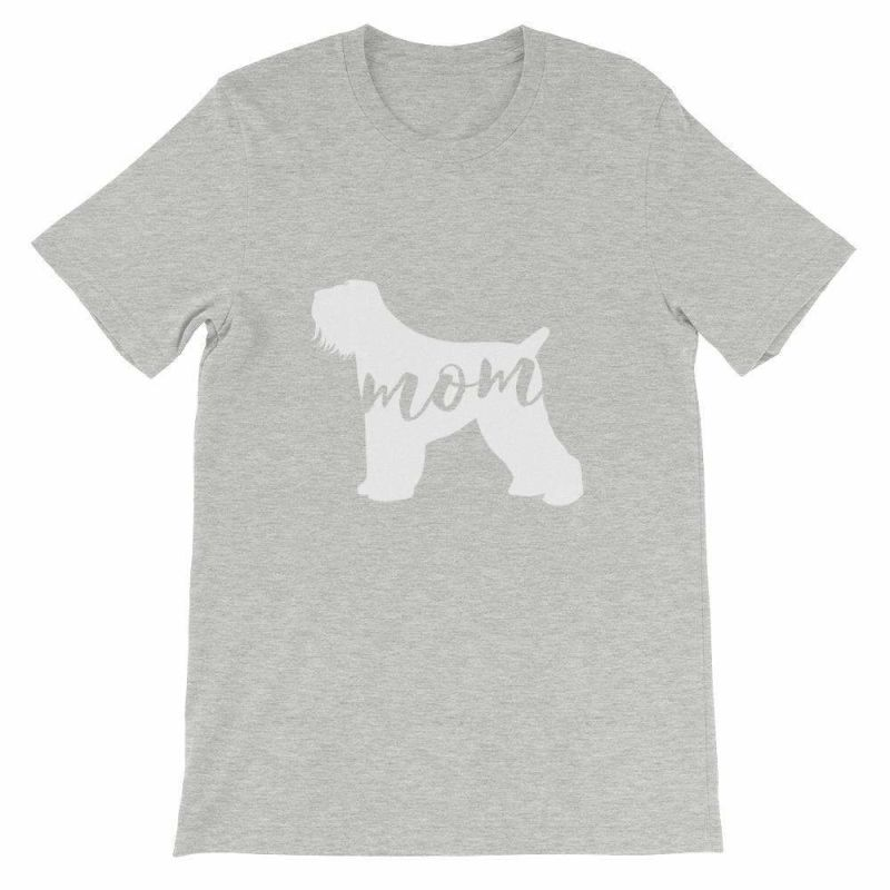Black Russian Terrier Mom - Unisex Short Sleeve T-Shirt Athletic Heather / S