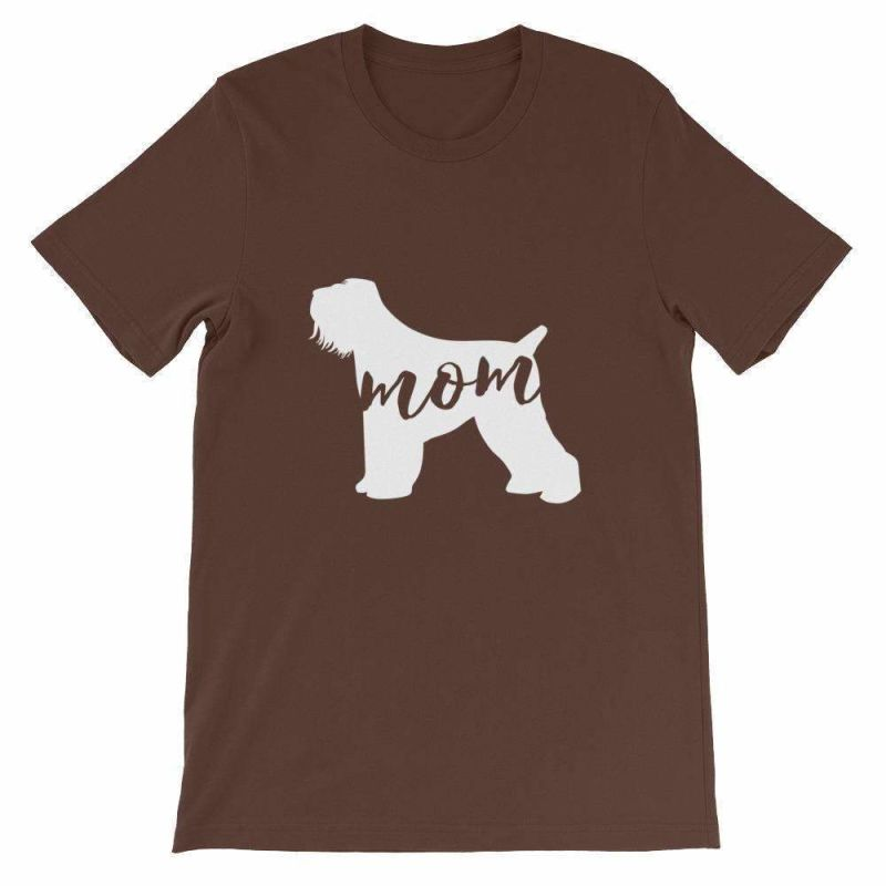 Black Russian Terrier Mom - Unisex Short Sleeve T-Shirt Brown / S