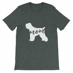 Black Russian Terrier Mom - Unisex Short Sleeve T-Shirt Heather Forest / S