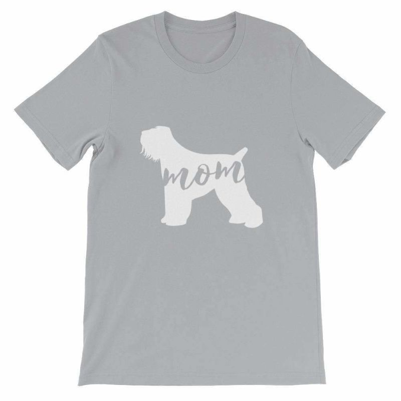 Black Russian Terrier Mom - Unisex Short Sleeve T-Shirt Silver / S