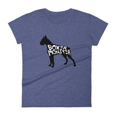 Boxer Monster - Women's Short Sleeve T-Shirt Heather Blue / S