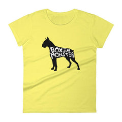 Boxer Monster - Women's Short Sleeve T-Shirt Spring Yellow / S