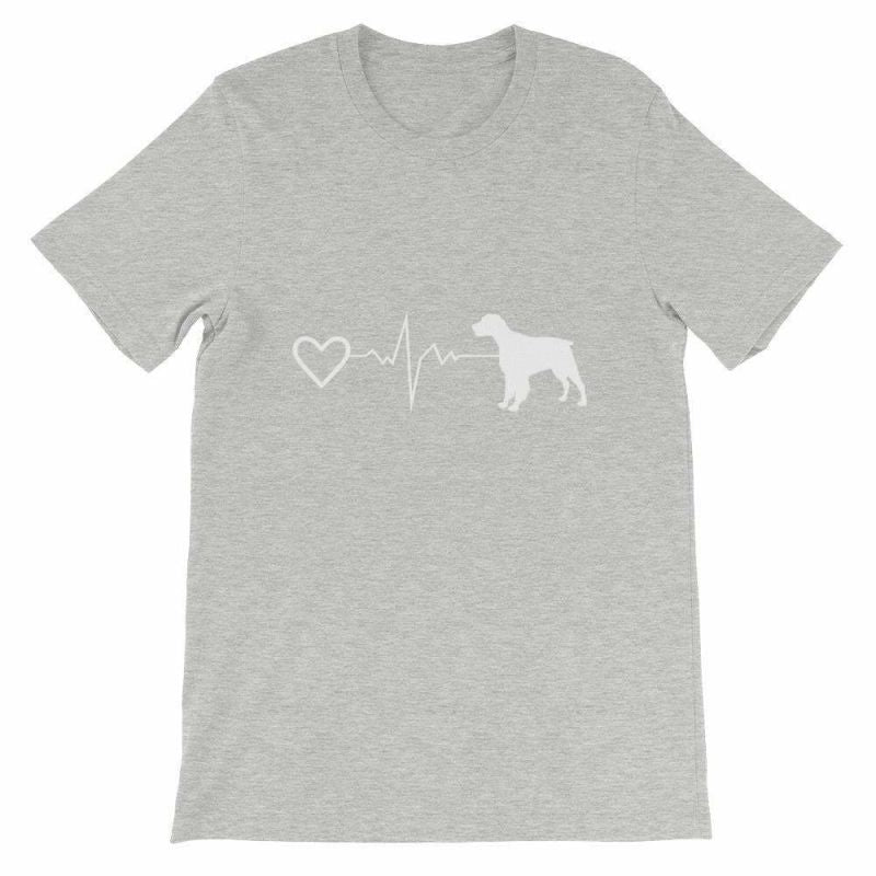 Brittany Heartbeat - Short-Sleeve Unisex T-Shirt Athletic Heather / S