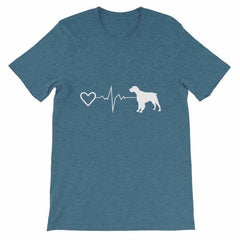 Brittany Heartbeat - Short-Sleeve Unisex T-Shirt Heather Deep Teal / S