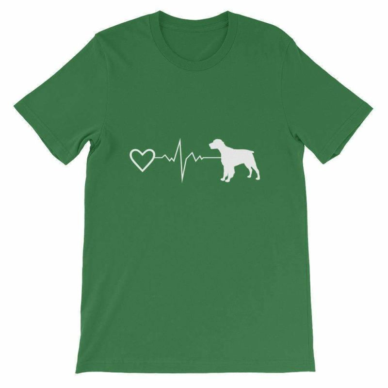 Brittany Heartbeat - Short-Sleeve Unisex T-Shirt Leaf / S