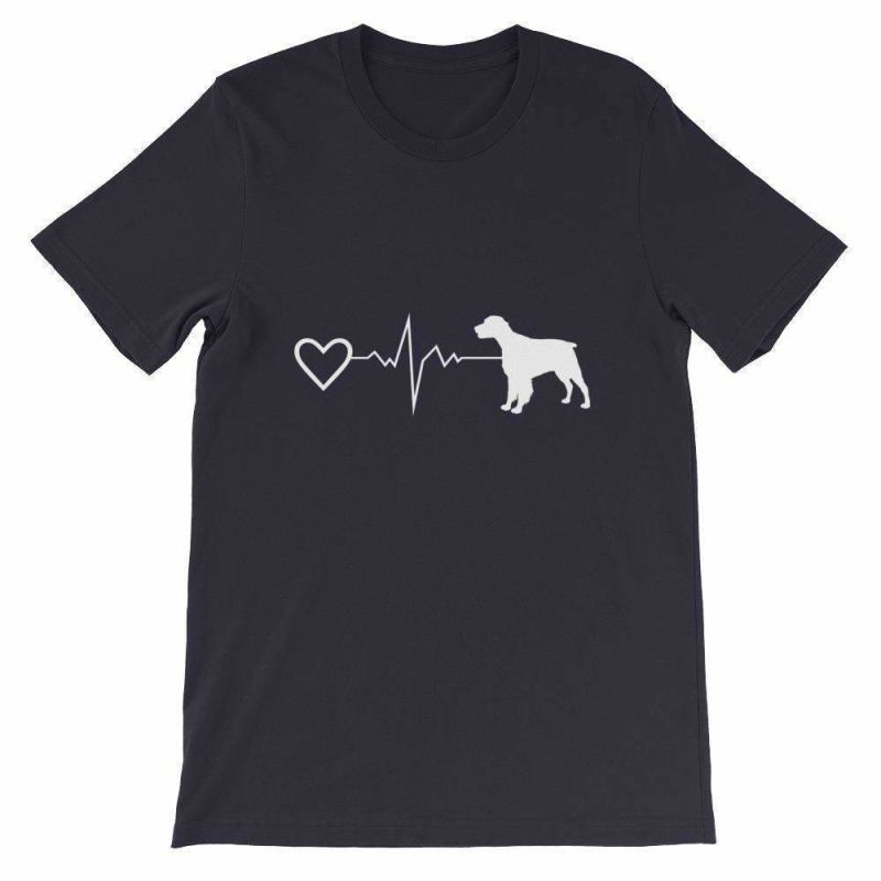 Brittany Heartbeat - Short-Sleeve Unisex T-Shirt Navy / S