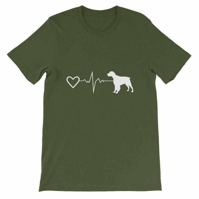 Brittany Heartbeat - Short-Sleeve Unisex T-Shirt Olive / S