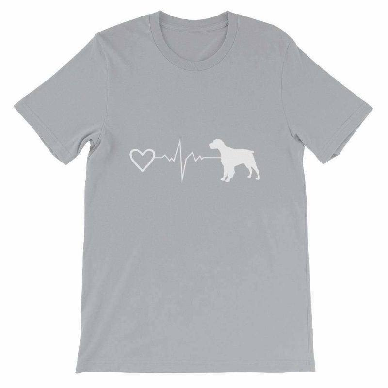 Brittany Heartbeat - Short-Sleeve Unisex T-Shirt Silver / S