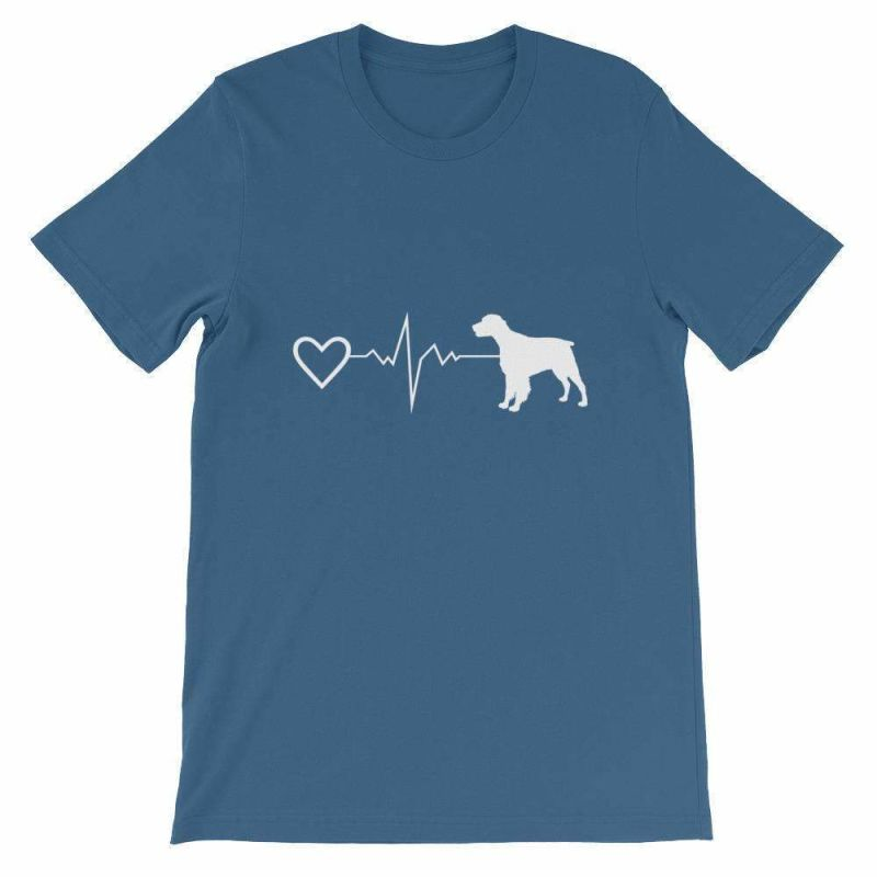 Brittany Heartbeat - Short-Sleeve Unisex T-Shirt Steel Blue / S