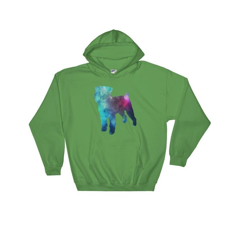 Brussels Griffon Galaxy Hoodie Irish Green / S