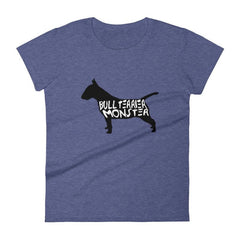 Bull Terrier Monster - Women's Short Sleeve T-Shirt Heather Blue / S