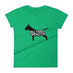 Bull Terrier Monster - Women's Short Sleeve T-Shirt Heather Green / S