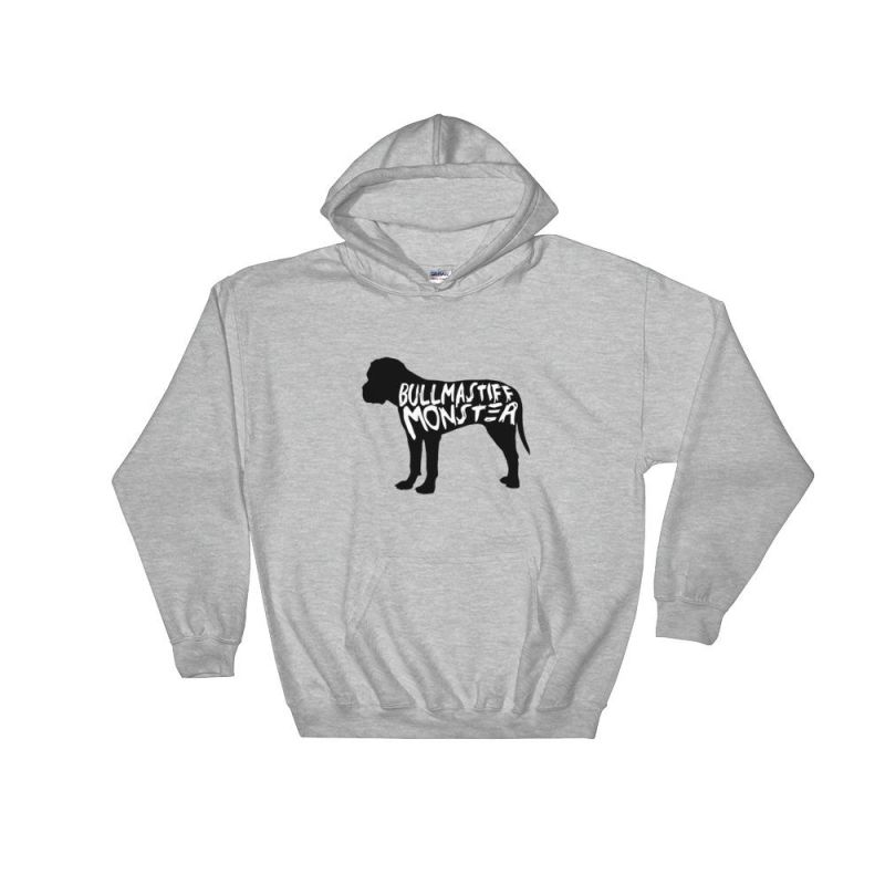 Bullmastiff Monster Hoodie Sport Grey / S