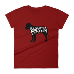 Bullmastiff Monster - Women's Short Sleeve T-Shirt Independence Red / S