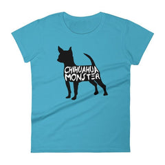 Chihuahua Monster - Women's Short Sleeve T-Shirt Caribbean Blue / S