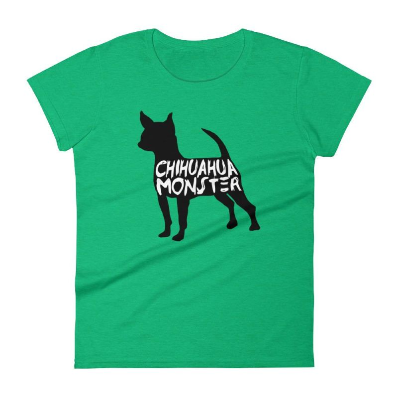 Chihuahua Monster - Women's Short Sleeve T-Shirt Heather Green / S