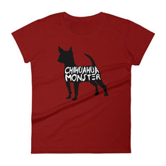 Chihuahua Monster - Women's Short Sleeve T-Shirt Independence Red / S