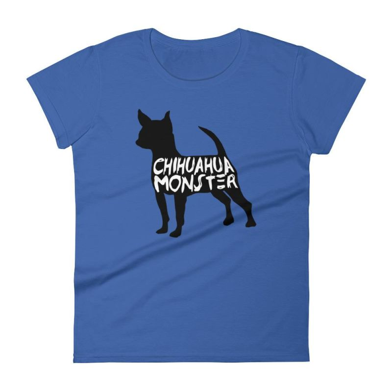 Chihuahua Monster - Women's Short Sleeve T-Shirt Royal Blue / S