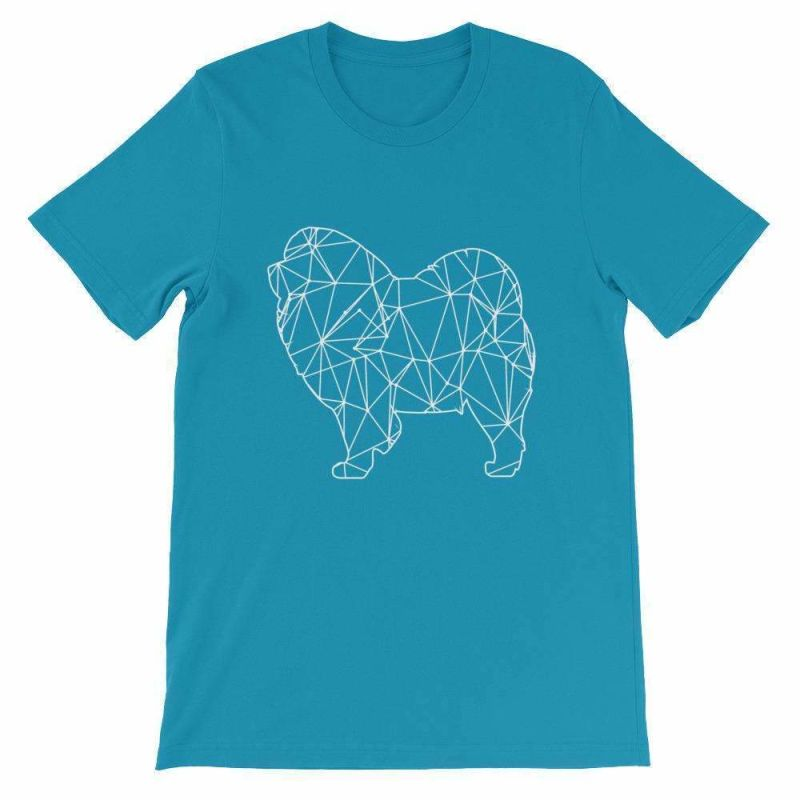 Chow Geometric Design - Unisex Short Sleeve T-Shirt Aqua / S