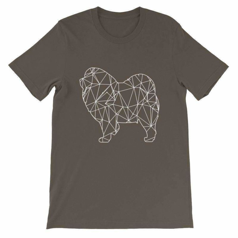 Chow Geometric Design - Unisex Short Sleeve T-Shirt Army / S