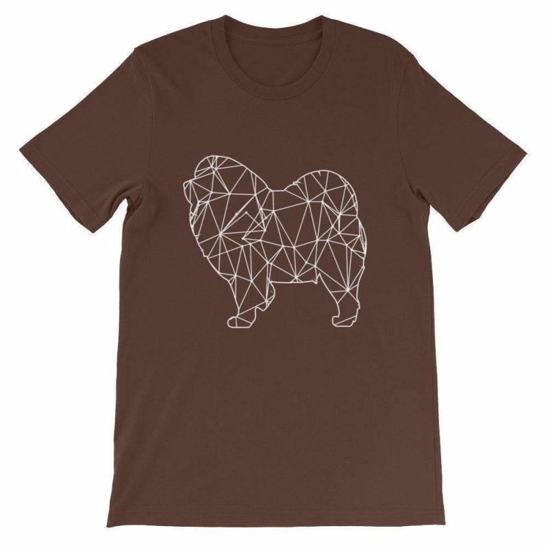Chow Geometric Design - Unisex Short Sleeve T-Shirt Brown / S
