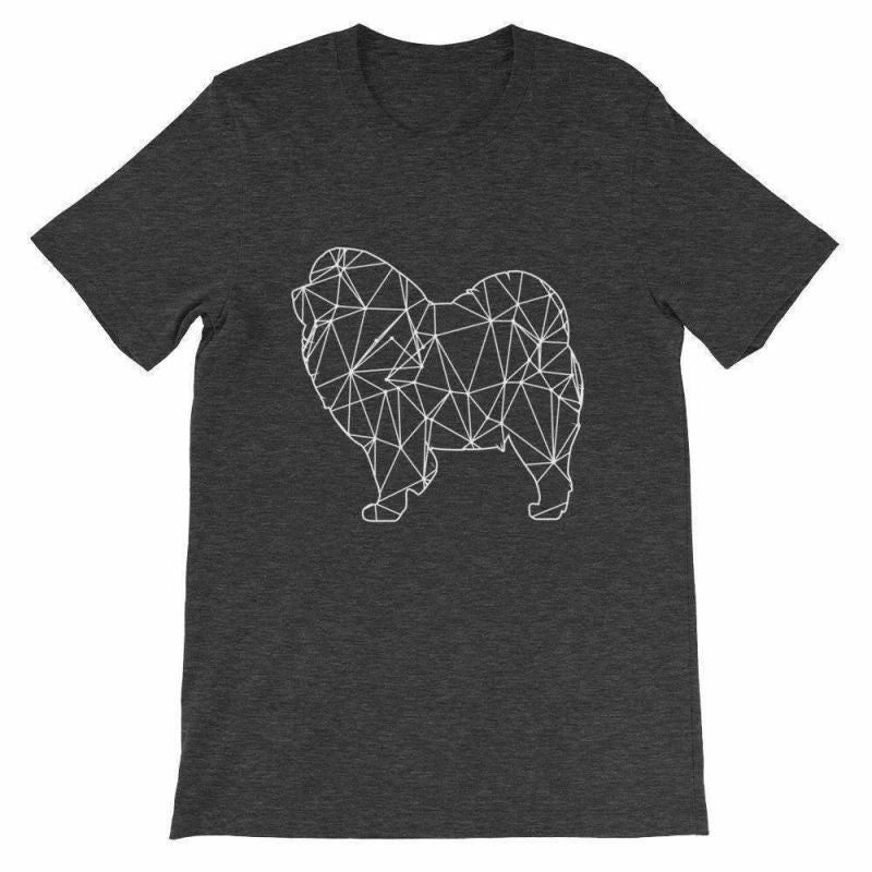 Chow Geometric Design - Unisex Short Sleeve T-Shirt Dark Grey Heather / S
