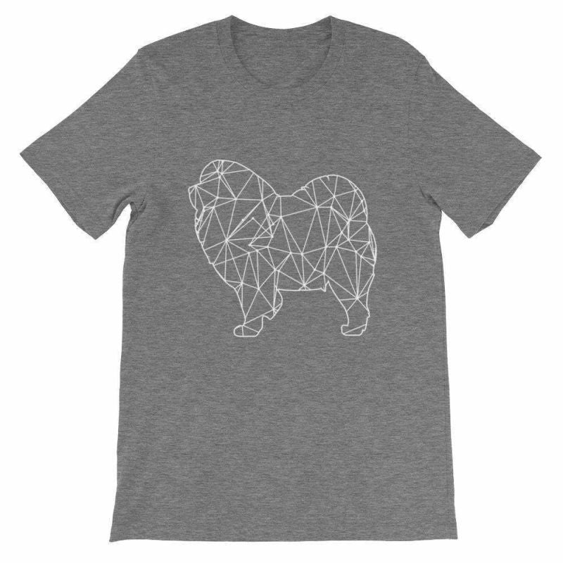 Chow Geometric Design - Unisex Short Sleeve T-Shirt Deep Heather / S